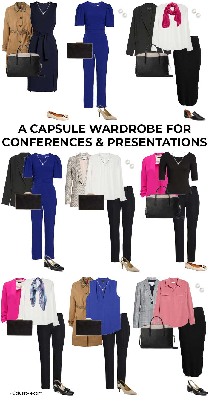 A capsule wardrobe for conferences and presentations | 40plusstyle.com