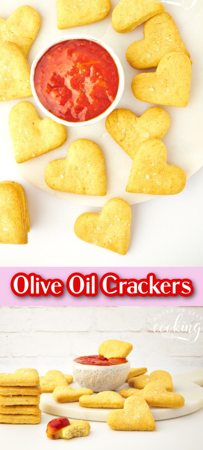 Olive oil and sea salt crackers pin