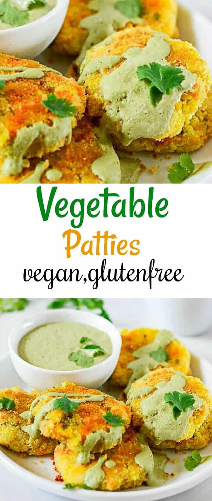 Vegetable Patties With Cilantro Sauce