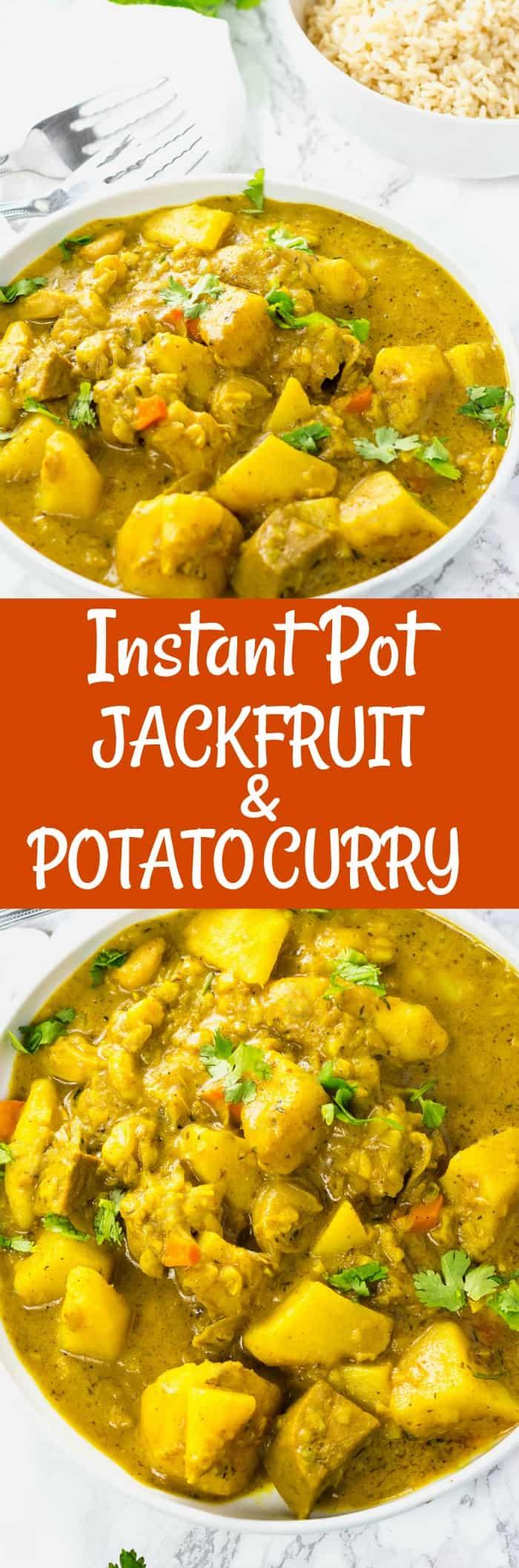 Instant Pot Jackfruit And Potato Curry