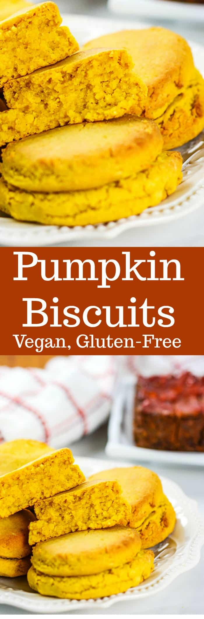 Pumpkin Biscuits (Vegan, Gluten-Free)