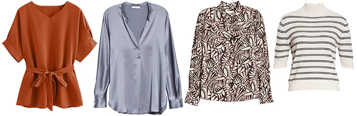 tops to wear with wide leg pants | 40plusstyle.com