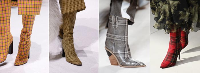 Plaid boots for women over 40 - 12 shoe trends for Fall 2018 | 40plusstyle.com