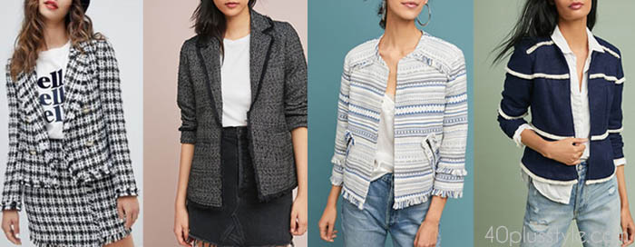 Tweed jackets - 10 French style secrets to steal | 40plusstyle.com