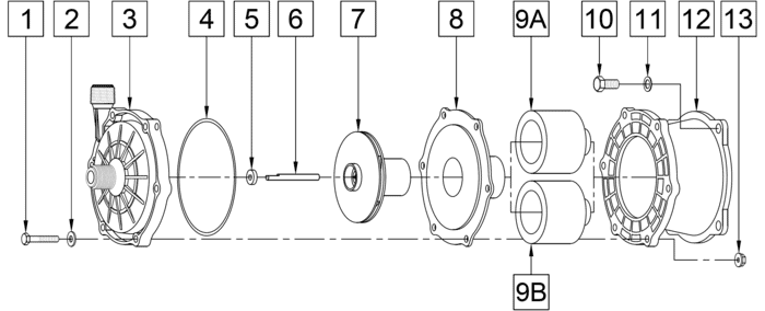335-CP-MD Pump Less Motor