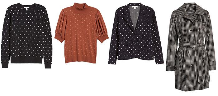 Sweaters, coats & cardigans dot prints   40plusstyle.com