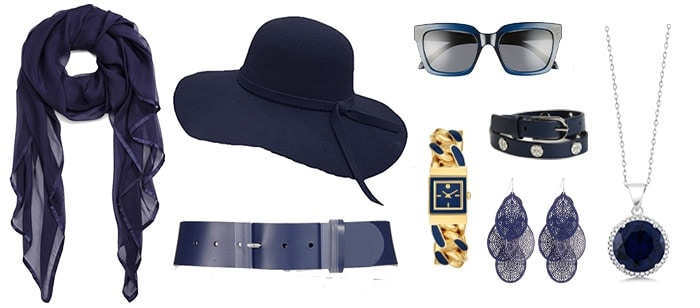 navy accessories | 40plusstyle.com