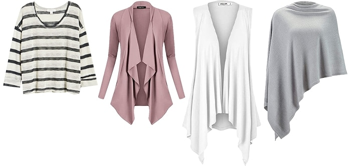 Sweaters and cardigans for the rectangular body | 40plusstyle.com