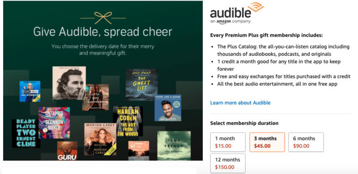 How to Give the Gift of Amazon Audible