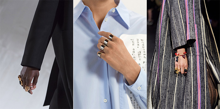 Wearing lots of rings for spring   40plusstyle.com