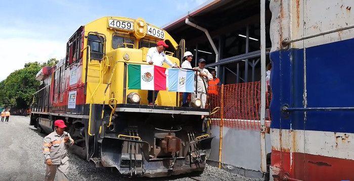 El tren regreso a a Tecún Umán