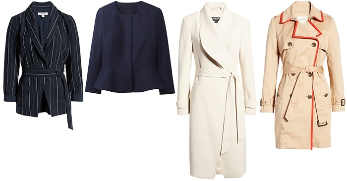 jackets and coats for the hourglass | 40plusstyle.com
