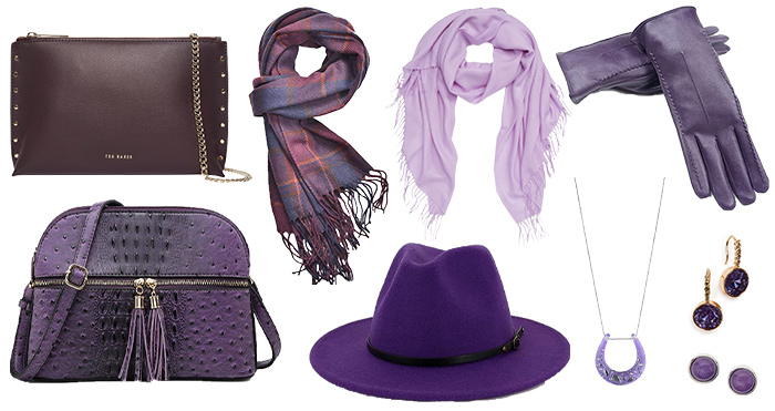 Purple accessories | 40plusstyle.com