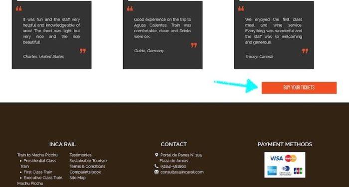インカレイルのサイト画面
