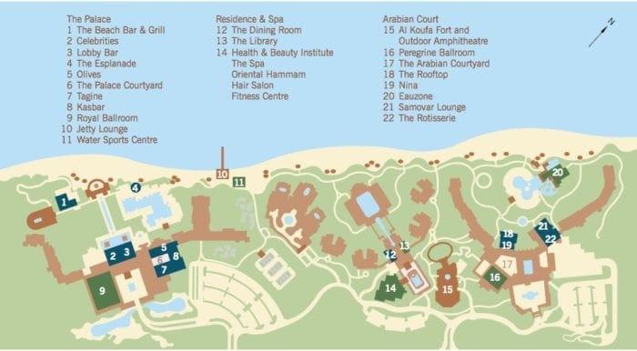 ドバイのワン&オンリーの敷地図