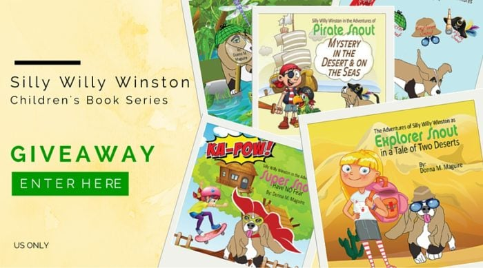The Adventures of Silly Willy Winston as Explorer Snout in a Tale of Two Deserts - Book Series Giveaway