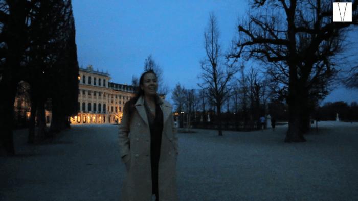 Daniela Procopio no Castelo de Shonbrunn