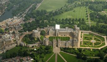 vista aérea do castelo de windsor