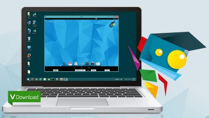 Запущенная ОС Android на ноутбуке