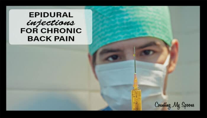 Epidural injections for chronic back pain