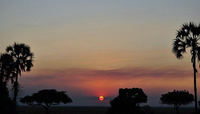 アフリカの夕焼け