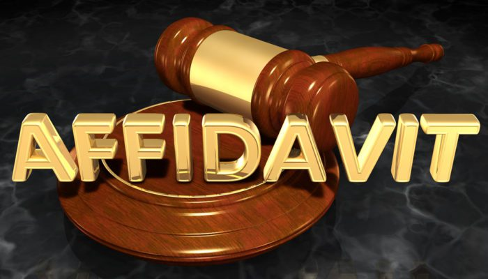 Affidavit of Corroborating Witness in Florida