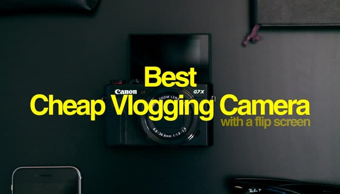 cheap vlogging camera with flip screen
