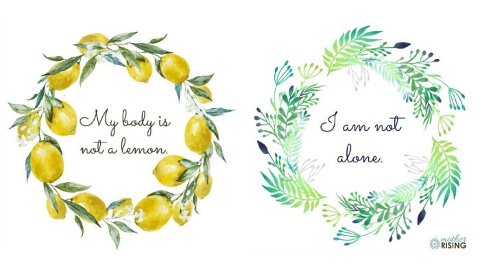 A collection of 12 stunning printable positive birth affirmations to empower women throughout pregnancy and birth. Give birth without fear and with confidence with these affirmations.