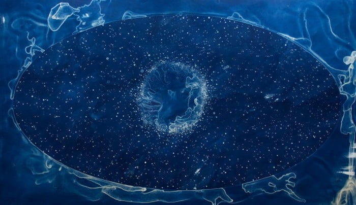 Your Body is a Space That Sees: Artist Lia Halloran 's Stunning Cyanotype Tribute to Women in Astronomy - @brainpickings Artes & contextos Lia Halloran III