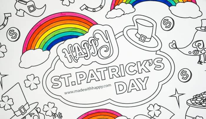 Free Printable Rainbow Coloring Page