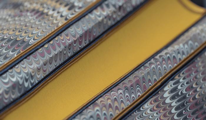 Abat-jour forme espagnol - papier marbré