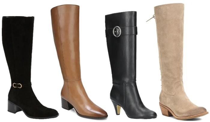 Knee high boots to wear with pants | 40plusstyle.com