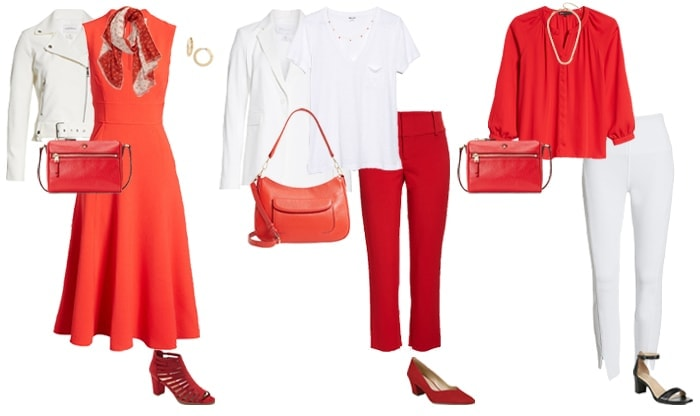 How to wear red and white | 40plusstyle.com