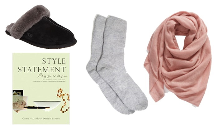 lounge accessories for a loungewear capsule wardrobe | 40plusstyle.com