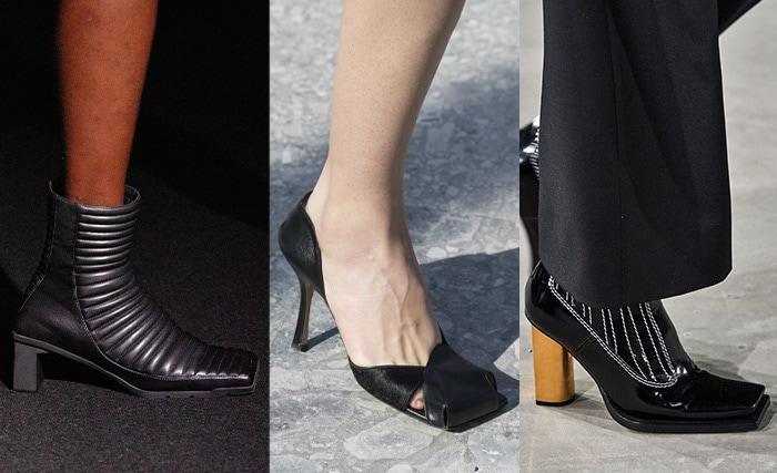 Trendy shoes with square toes | 40plusstyle.com