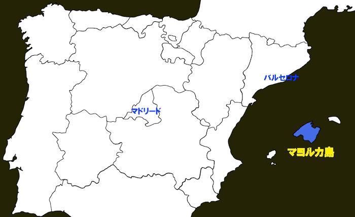 マヨルカ島の地図