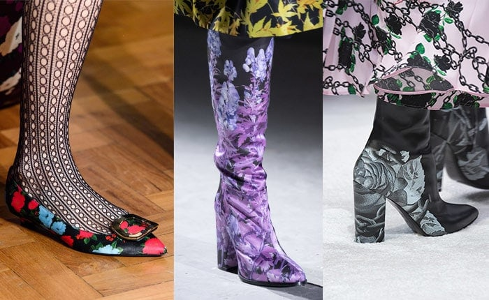 Trendy shoes with fabulous florals | 40plusstyle.com