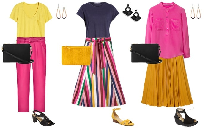 wearing yellow with a pop of color | 40plusstyle.com
