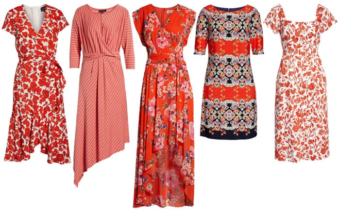 printed orange dresses | 40plusstyle.com