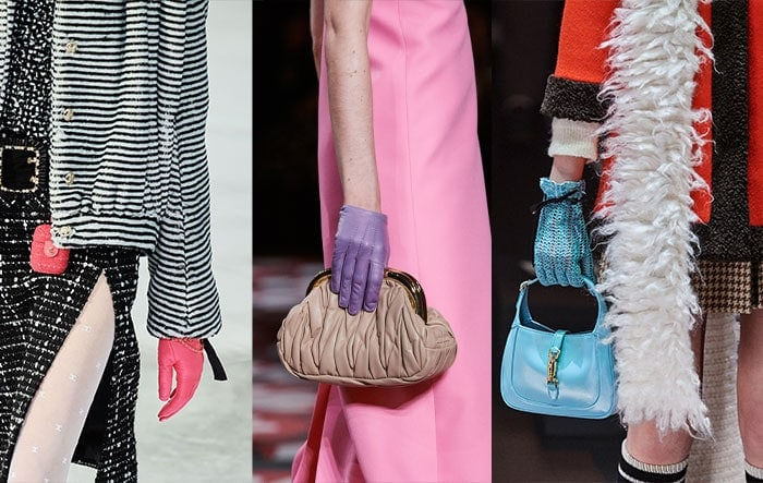 How to wear gloves as a stylish accessory for winter - Colored Gloves | 40plusstyle.com