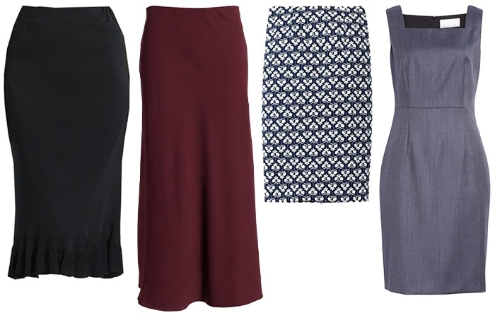 Skirts and dress for white tops   40plusstyle.com