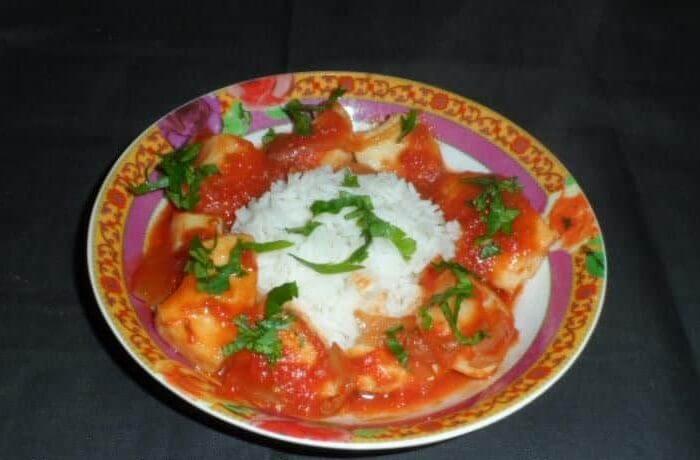 Calamars en sauce tomate