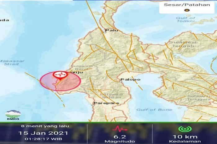 Gempa-Majene 6.2 M