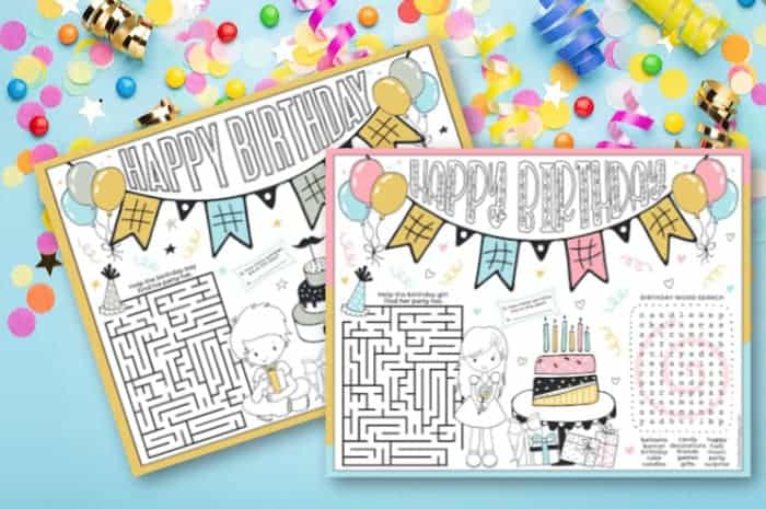 Happy Birthday Coloring Pages Printable - Made With HAPPY