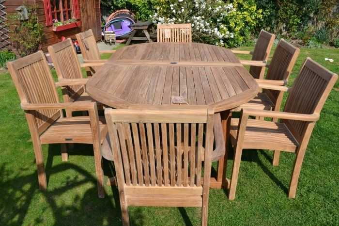 teak outdoor patio