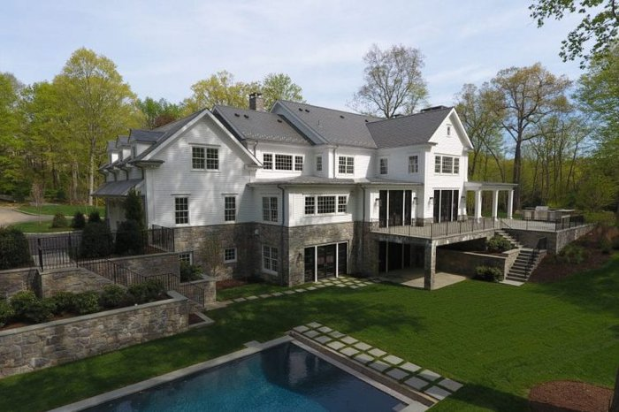 Greenwich CT home design contemporary Colonial by DeMotte Architects