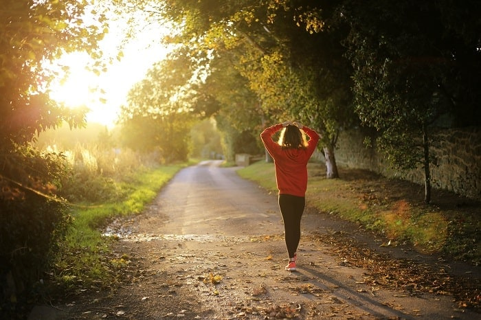 person exercising in morning