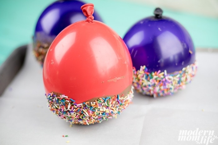 Edible Ice Cream Bowls made with balloons