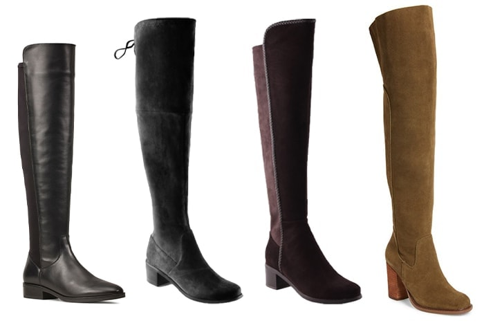How to look fashionable in winter: over the knee winter boots | 40plusstyle.com