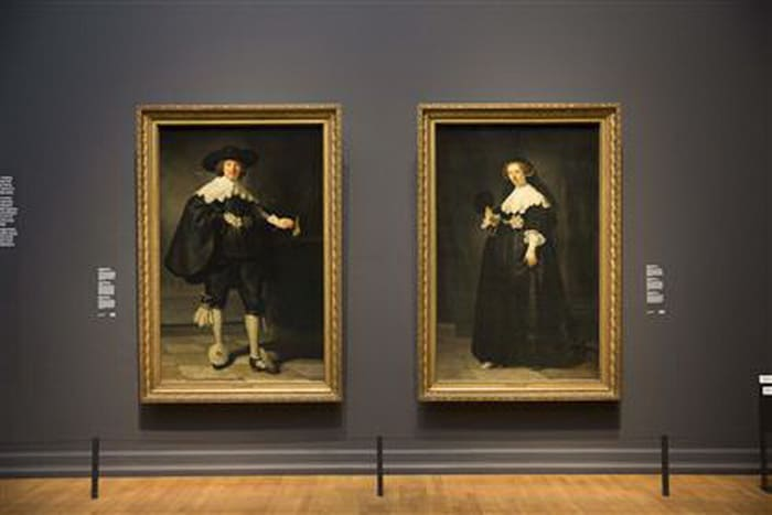 Rembrandt wedding couple